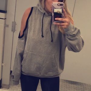 LF sweatshirt with shoulder cut outs